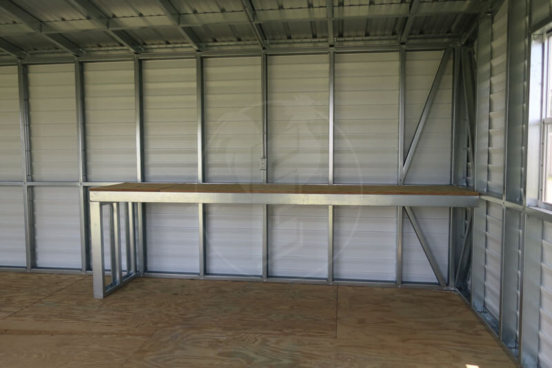 Interior Shelving of Portable Building