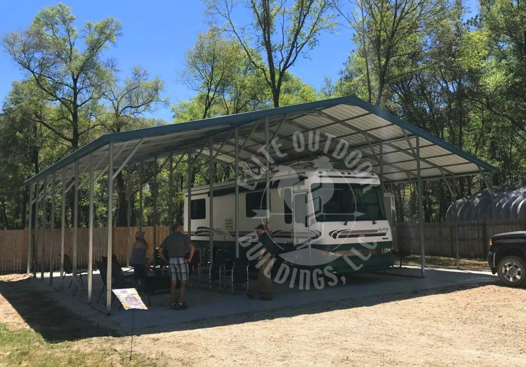 RV Carport with green roof