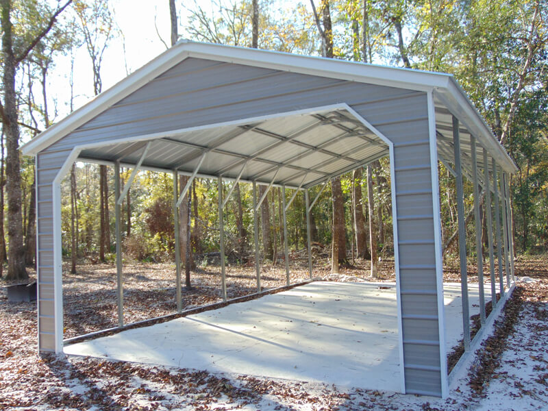 large grey carport